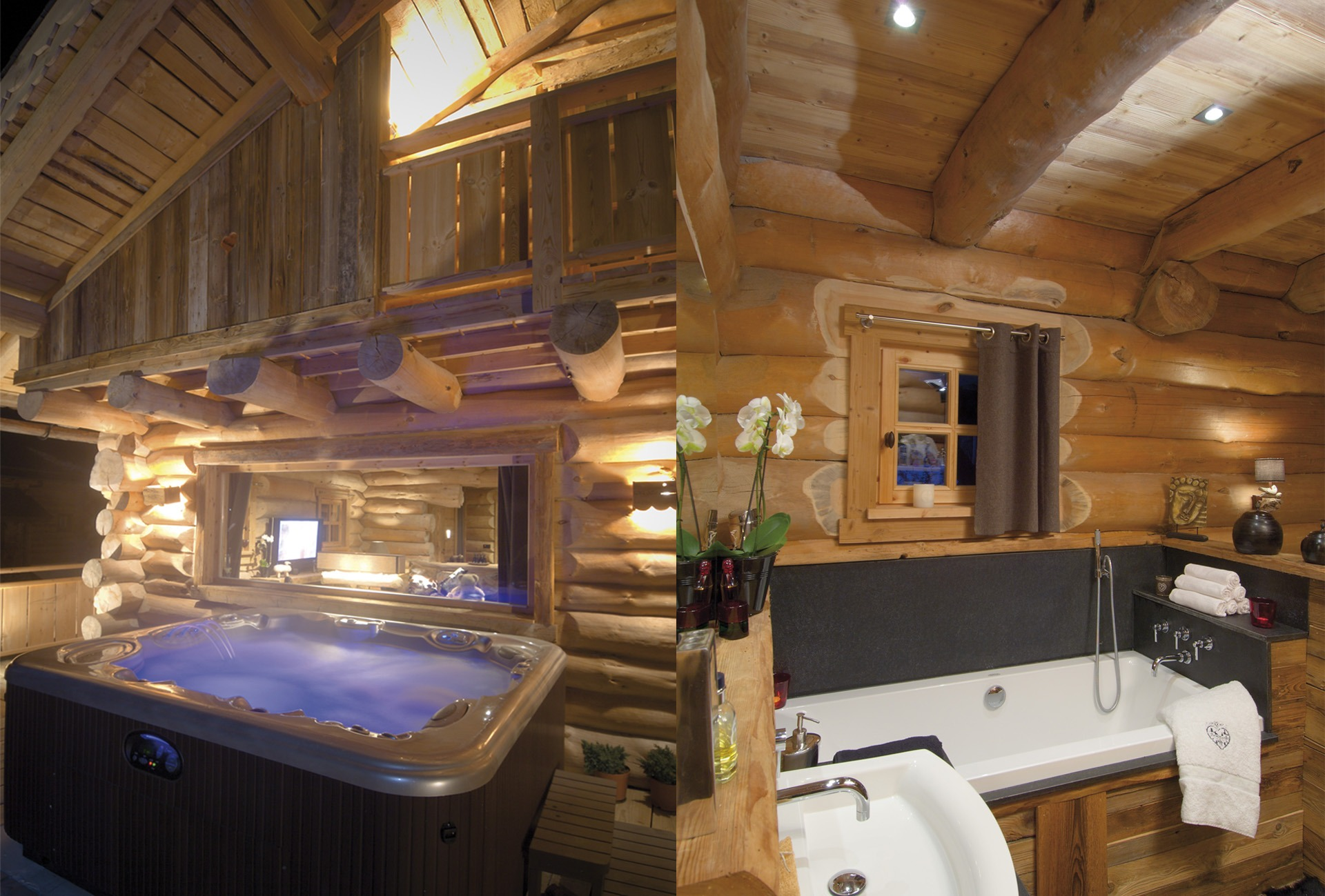 Chalets nordika constructeur bois bolqu re pyr n es for Salle de bain jacuzzi